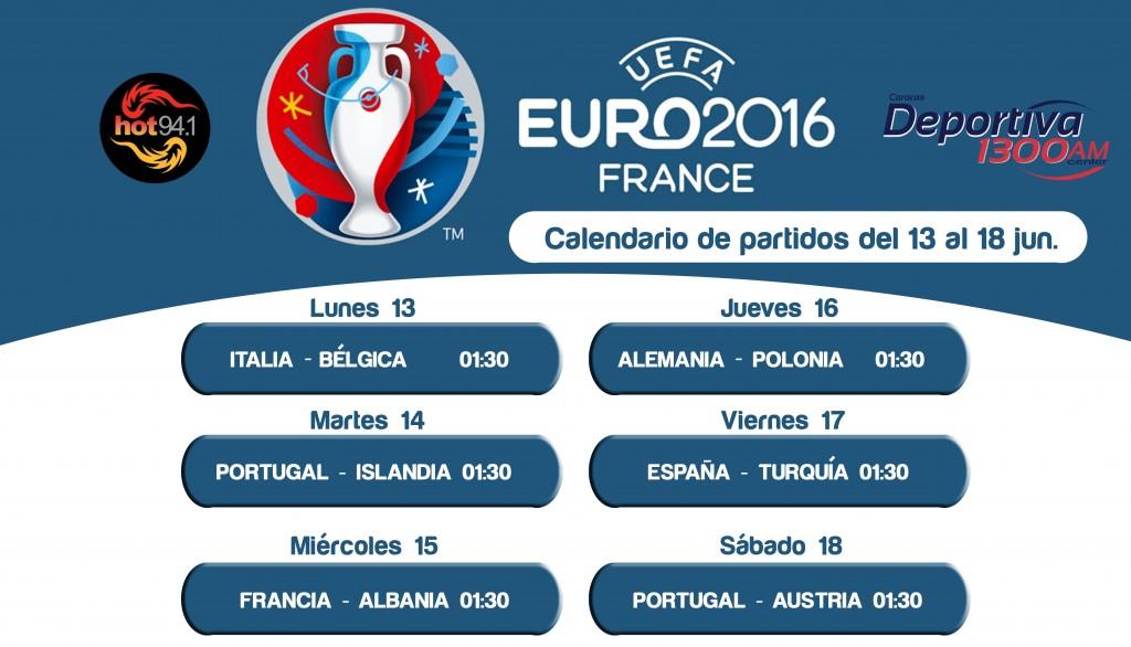 CALENDARIO EURO2016
